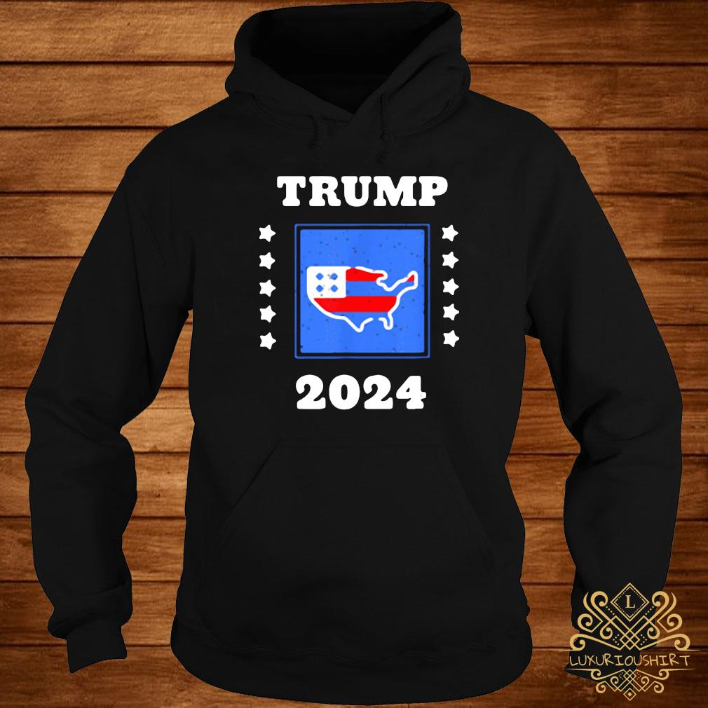Trump 2024 Election Flag Keeping America Great American Flag President Shirt hoodie