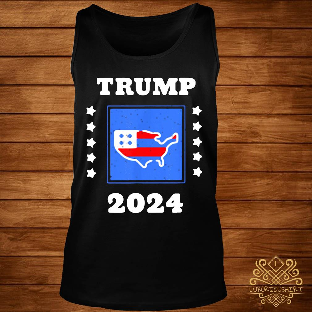 Trump 2024 Election Flag Keeping America Great American Flag President Shirt tank-top