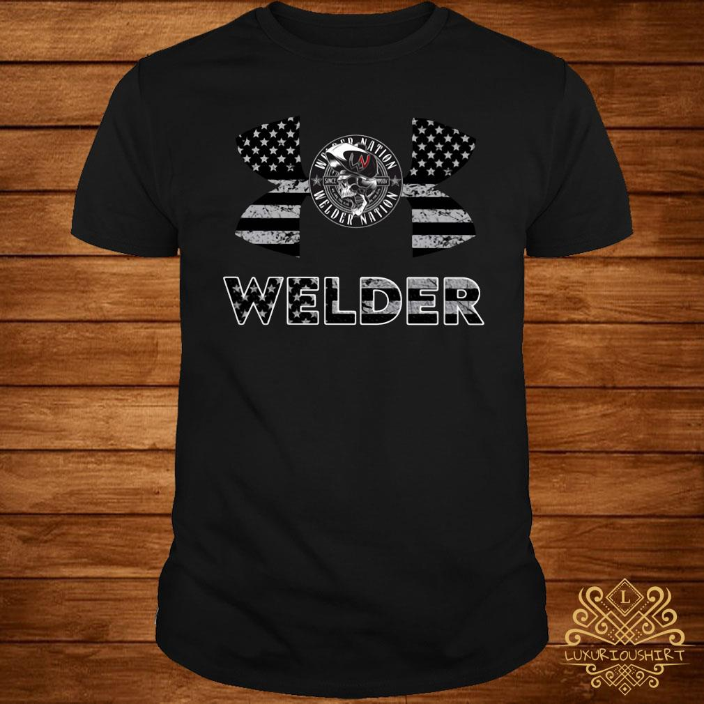 Under Armour Welder American Flag Shirt