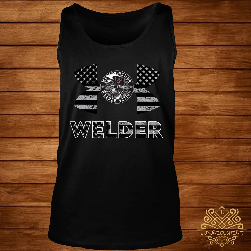 Under Armour Welder American Flag Shirt tank-top